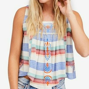 Free People Tops - NWT Free People Vintage Stripe Cotton Top
